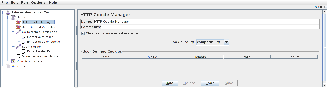 Cookie Manager Screenshot
